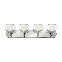 Hinkley 50204CM Katia 4 Light 30 inch Chrome Bath Wall Light