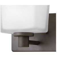 Hinkley 5020KZ Taylor 1 Light 8 inch Buckeye Bronze Bath Sconce Wall Light in G9, Etched White Glass alternative photo thumbnail
