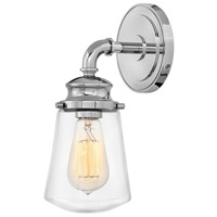 Hinkley 5030CM Fritz 1 Light 5 inch Chrome Bath Sconce Wall Light
