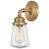 Hinkley 5030HB Fritz 1 Light 7 inch Heritage Brass Bath Wall Light