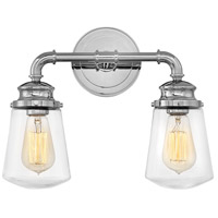 Hinkley 5032CM Fritz 2 Light 15 inch Chrome Bath Sconce Wall Light