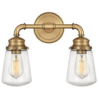 Hinkley 5032HB Fritz 2 Light 15 inch Heritage Brass Bath Light Wall Light