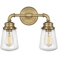 Hinkley 5032HB Fritz 2 Light 15 inch Heritage Brass Bath Light Wall Light