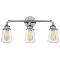 Hinkley Steel Fritz Bathroom Vanity Lights