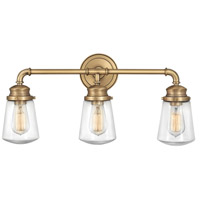 Hinkley 5033HB Fritz 3 Light 24 inch Heritage Brass Bath Wall Light