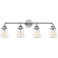 Fritz 4 Light 34 inch Brushed Nickel Bath Sconce Wall Light
