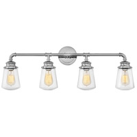 Hinkley 5034CM Fritz 4 Light 34 inch Chrome Bath Sconce Wall Light