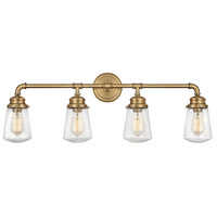 Fritz 4 Light 34 inch Heritage Brass Bath Wall Light