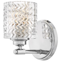 Elle 1 Light 6 inch Chrome Bath Sconce Wall Light