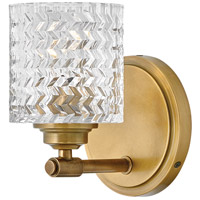 Hinkley 5040HB Elle 1 Light 6 inch Heritage Brass Bath Light Wall Light
