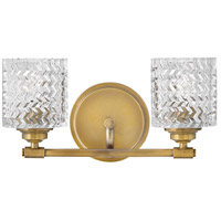 Hinkley 5042HB Elle 2 Light 15 inch Heritage Brass Bath Light Wall Light