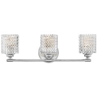 Hinkley 5043CM Elle 3 Light 27 inch Chrome Bath Wall Light
