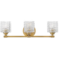 Hinkley 5043HB Elle 3 Light 24 inch Heritage Brass Bath Light Wall Light