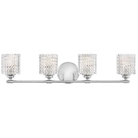 Elle 4 Light 32 inch Chrome Bath Wall Light