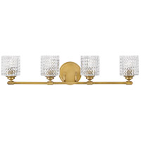 Hinkley 5044HB Elle 4 Light 32 inch Heritage Brass Bath Light Wall Light