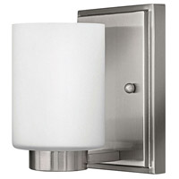 Hinkley 5050BN Miley 1 Light 5 inch Brushed Nickel Bath Vanity Wall Light in Etched Opal