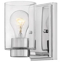 Hinkley 5050CM-CL Miley 1 Light 5 inch Chrome Bath Light Wall Light in Incandescent Clear