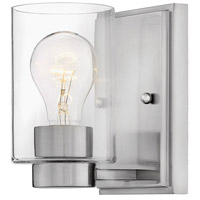 Hinkley 5050BN-CL Miley 1 Light 5 inch Brushed Nickel Bath Sconce Wall Light in Incandescent, Clear