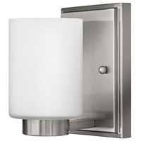 Hinkley 5050BN-LED Miley LED 5 inch Brushed Nickel Bath Sconce Wall Light in Etched White
