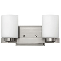 Miley 2 Light 13 inch Brushed Nickel Bath Vanity Wall Light in Etched Opal