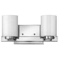 Hinkley 5052CM Miley 2 Light 13 inch Chrome Bath Vanity Wall Light in Inside-Painted White