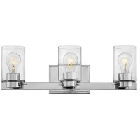 Hinkley 5053CM-CL Miley 3 Light 22 inch Chrome Bath Light Wall Light in Incandescent, Clear
