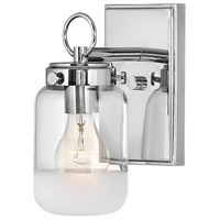 Hinkley Steel Penley Bathroom Vanity Lights