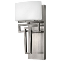 Hinkley 5100AN-LED Lanza LED 7 inch Antique Nickel Bath Sconce Wall Light, Etched Opal Glass