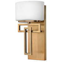 Lanza 1 Light 7 inch Brushed Bronze Bath Sconce Wall Light in G9