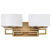 Lanza 2 Light 16 inch Brushed Bronze Bath Light Wall Light in G9