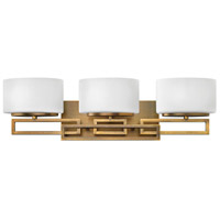 Hinkley 5103BR Lanza 3 Light 25 inch Brushed Bronze Bath Vanity Wall Light in G9