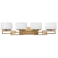 Hinkley 5104BR Lanza 4 Light 34 inch Brushed Bronze Bath Vanity Wall Light in G9