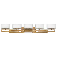Lanza 5 Light 43 inch Brushed Bronze Bath Vanity Wall Light in G9