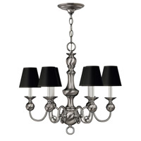 Hinkley Lighting Virginian 6 Light Chandelier in Pewter 5126PW photo thumbnail