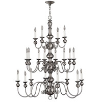 Hinkley Lighting Virginian 20 Light Chandelier in Pewter 5127PW photo thumbnail