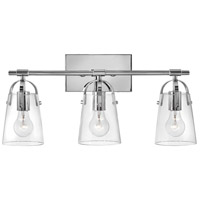 Hinkley 5133CM Foster 3 Light 23 inch Chrome Bath Light Wall Light