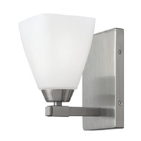 Jordan 1 Light 5 inch Brushed Nickel Bath Wall Light, Etched Opal Glass