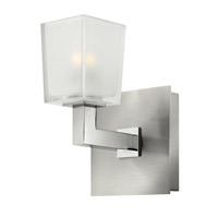 Hinkley 51560BN Zina 1 Light 5 inch Brushed Nickel Bath Wall Light, Ice Glass