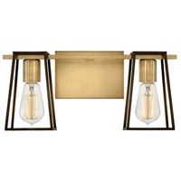 Hinkley 5162HB Filmore 2 Light 16 inch Heritage Brass with Oil Rubbed Bronze Accents Bath Light Wall Light