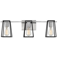 Hinkley 5163CM Filmore 3 Light 24 inch Chrome with Satin Black Accents Bath Light Wall Light