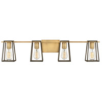 Hinkley 5164HB Filmore 4 Light 34 inch Heritage Brass with Oil Rubbed Bronze Accents Bath Light Wall Light