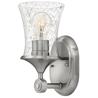 Hinkley 51800BN-CL Thistledown 1 Light 5 inch Brushed Nickel Bath Sconce Wall Light in Clear Seedy