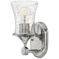 Hinkley 51800PN Thistledown 1 Light 5 inch Polished Nickel Bath Sconce Wall Light in Clear Seedy