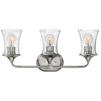 Hinkley 51803PN Thistledown 3 Light 24 inch Polished Nickel Bath Light Wall Light in Clear Seedy