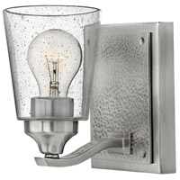 Hinkley 51820BN Jackson 1 Light 5 inch Brushed Nickel Bath Sconce Wall Light, Clear Seedy Glass
