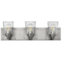 Hinkley 51823BN Jackson 3 Light 24 inch Brushed Nickel Bath Light Wall Light, Clear Seedy Glass