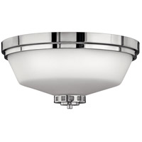 Hinkley 5191CM Ashley 3 Light 16 inch Chrome Bath Flush Mount Ceiling Light