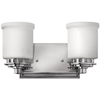 Ashley 2 Light 13 inch Chrome Bath Light Wall Light