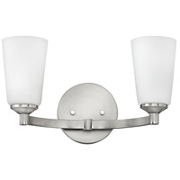Sadie 2 Light 16 inch Brushed Nickel Bath Light Wall Light