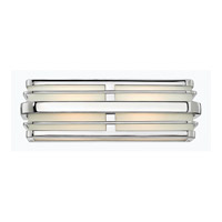 Winton 2 Light 16 inch Chrome Bath Vanity Wall Light in GU24, Inside White Etched Panels Glass